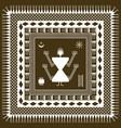 warli square pattern vector image vector image