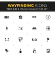 Wayfinding Icons Set vector image