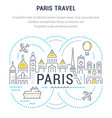 website banner and landing page paris travel vector image vector image