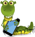worm with the device vector image vector image