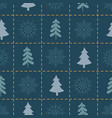 xmas seamless pattern with spruce tree on square vector image