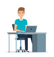 young man in the workplace avatar character vector image vector image