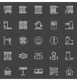 Heating linear icons vector image