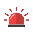 Police or ambulance red flasher siren alarm icon vector image