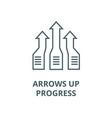 arrows upprogress line icon arrows up vector image