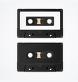 audio cassette tape mockup template blank vector image