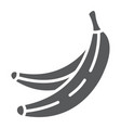 banana glyph icon fruits and vegetables tropical vector image vector image