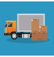 Box and truck of delivery concept design vector image vector image