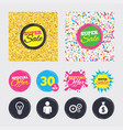 business signs human and lamp bulb idea icons vector image