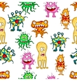 Cartoon colorful monsters and aliens vector image vector image