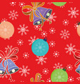 Christmas balls and bells seamless pattern