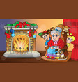 christmas indoor theme 7 vector image vector image