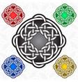 circular cruciform logo template in celtic knots vector image vector image