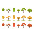 color trees set vector image