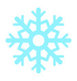 colorful snowflake icon vector image