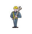 Construction Worker Spanner Isolated Cartoon vector image