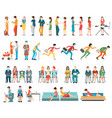 crowd of people characters cartoon vector image