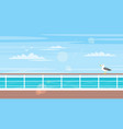cruise travel and tourism concept vector image vector image