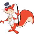 Cute Squirrel Gentleman Cartoon vector image