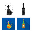 design of party and birthday symbol vector image vector image