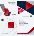 Design set of red colourful abstract