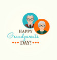 design template of happy grandparents day vector image