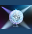 disco party banner layout card template vector image