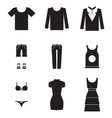 dress icons vector image vector image
