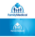 family medical vector image vector image
