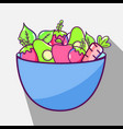 fresh and delicious vegetables inside of bowl vector image