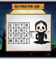 game halloween find the word of grim reaper vector image vector image