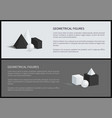 geometrical figures set text vector image vector image