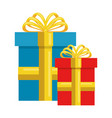 gifts presents isolated icon vector image