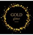 Glow luxury shiny ring design vector image