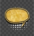 Gold round sparkle comic text bubble vector image vector image