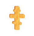 golden eight-pointed cross christian culture vector image