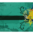 grunge vintage floral background vector image vector image