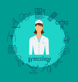 gynecology poster with flat icons vector image vector image
