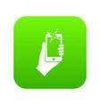hand photographed on mobile phone icon digital vector image