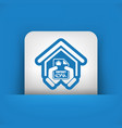 house contract icon vector image
