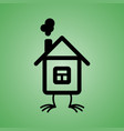 house with chicken feet icon vector image