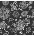 indian vintage floral seamless vector image