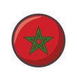 isolated morocco flag icon block design vector image