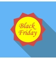 Label black friday icon flat style vector image vector image