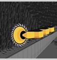 longwall shearers vector image