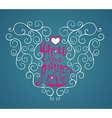 Love quote modern calligraphy vector image vector image