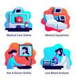 medicine design concept vector image