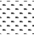 Minibus taxi pattern simple style vector image vector image