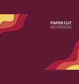 modern paper cut art cartoon abstract waves vector image