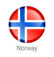 norway round button flag vector image